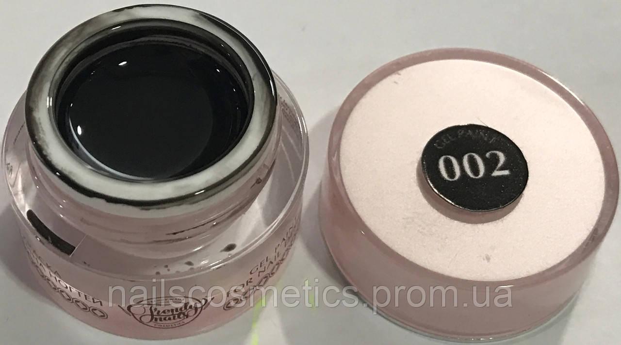 №02 Черная гель-краска Trendy Nails