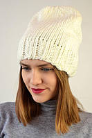Женская шапочка крупной вязки