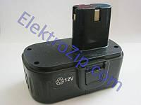 Двухконтактный, плоский аккумулятор 12V для шуруповерта