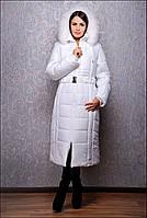 Женский пуховик большого размера К 103 макс.белый