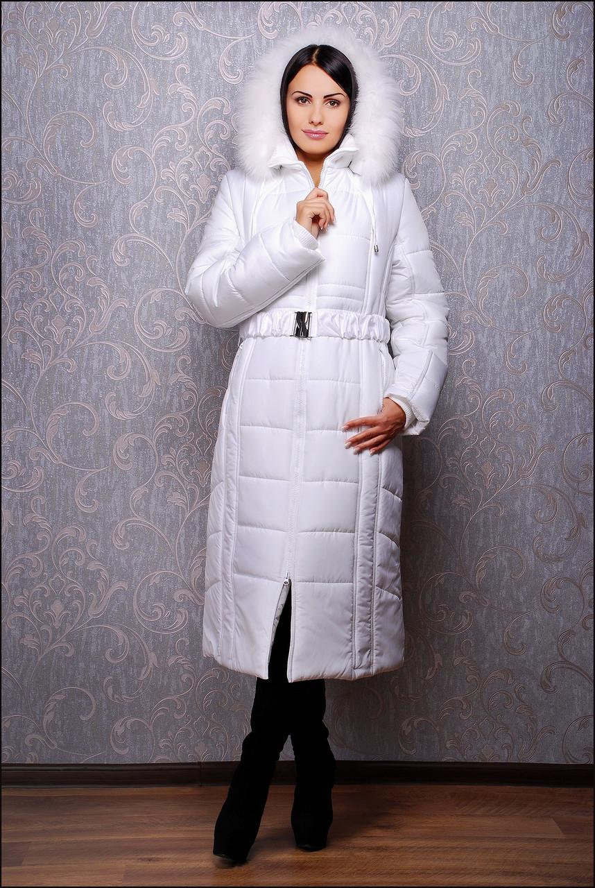Зимний пуховик К 103 белый