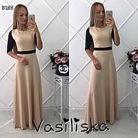 Стильное трикотажное длинное платье ан-10681-1