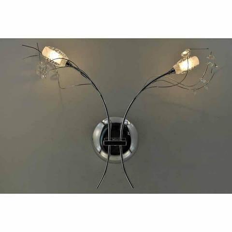 Бра хромовое на две лампы:галоген VL-12290/2 CR