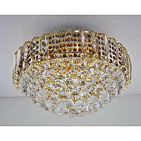 Хрустальная люстра на девять ламп цвет золото SZ-12275/9C
