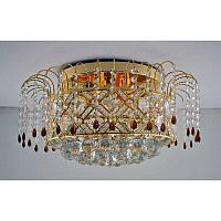 Хрустальная люстра на девять ламп цвет золото SZ-12277/9C