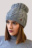 Оригинальная шапка серого цвета