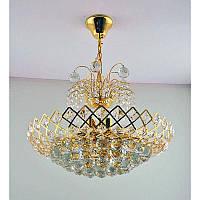 Хрустальная люстра золотая на одиннадцать  ламп SZ-12278/11C