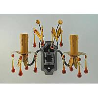 Бра черное хрустальное на две лампы SZ-11964/2W BG