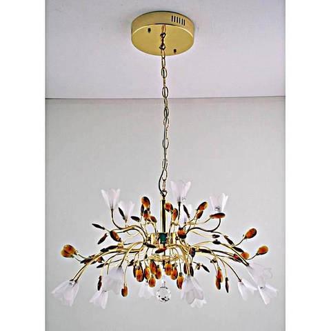 Люстра золотая галоген на пятнадцать лампочек 12234/15P CG WT GN RC