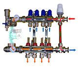 Коллектор для теплого пола в сборе с трехходовым клапаном на 9 контуров, фото 3