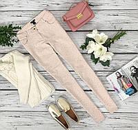 Пастельные джинсы-скинни H&M с леопардовым принтом  PN4229