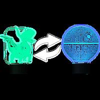 Дополнительная картинка (стекло) к 3D Светильнику