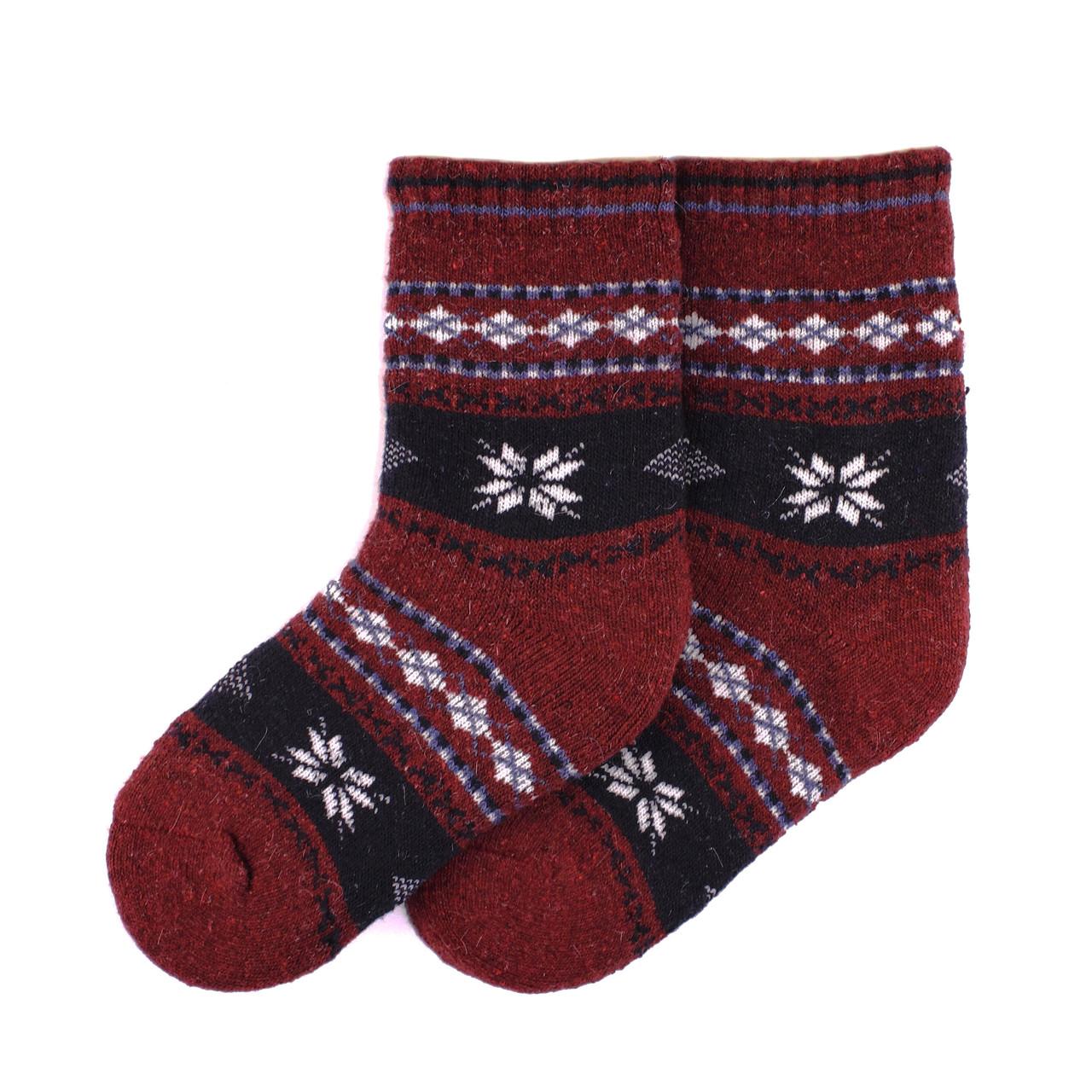 Теплые детские носки MIMIGOU 050- бордовые