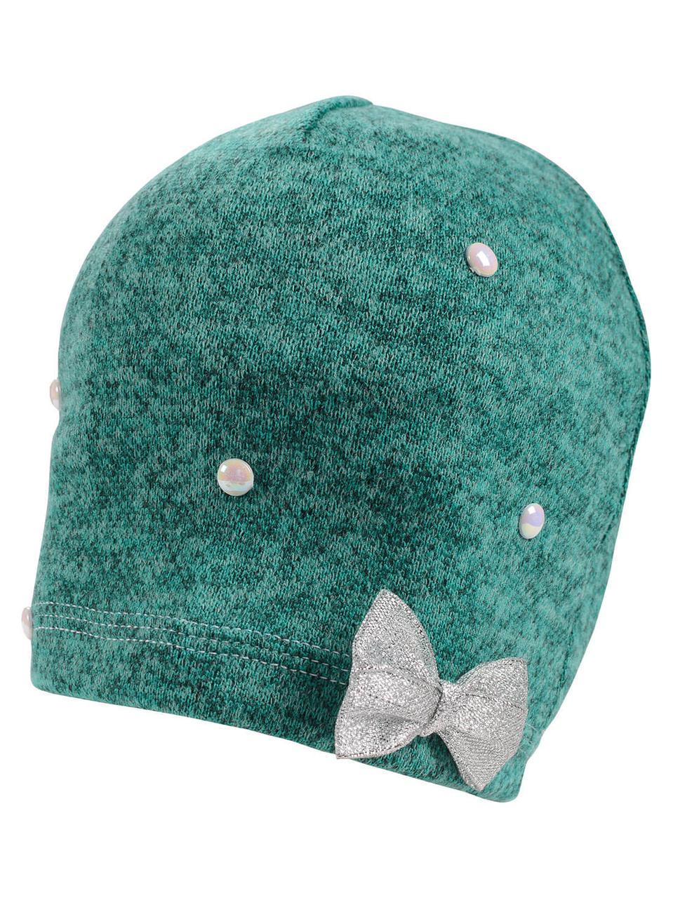 Демисезонная детская шапка на девочку в расцветках, Объём 42-44,46-48