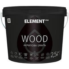 Акрилова емаль для дерева Element Pro Wood шовковисто-матова 2.5л