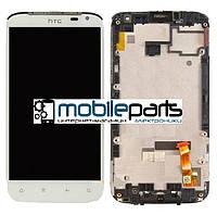 Оригинальный  Дисплей (Модуль) + Сенсор (Тачскрин) для HTC Sensation XL | G21 | X315e (С рамкой) (Белый)