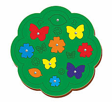 Магнитная рыбалка «Бабочки и цветочки», 250*250 мм, 062106