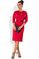 Экстравагантное деловое платье красного цвета
