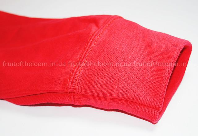 Красная мужская лёгкая толстовка с капюшоном на замке