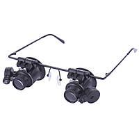 Glasses  9892A  Очки для ремонта часов с подсветкой