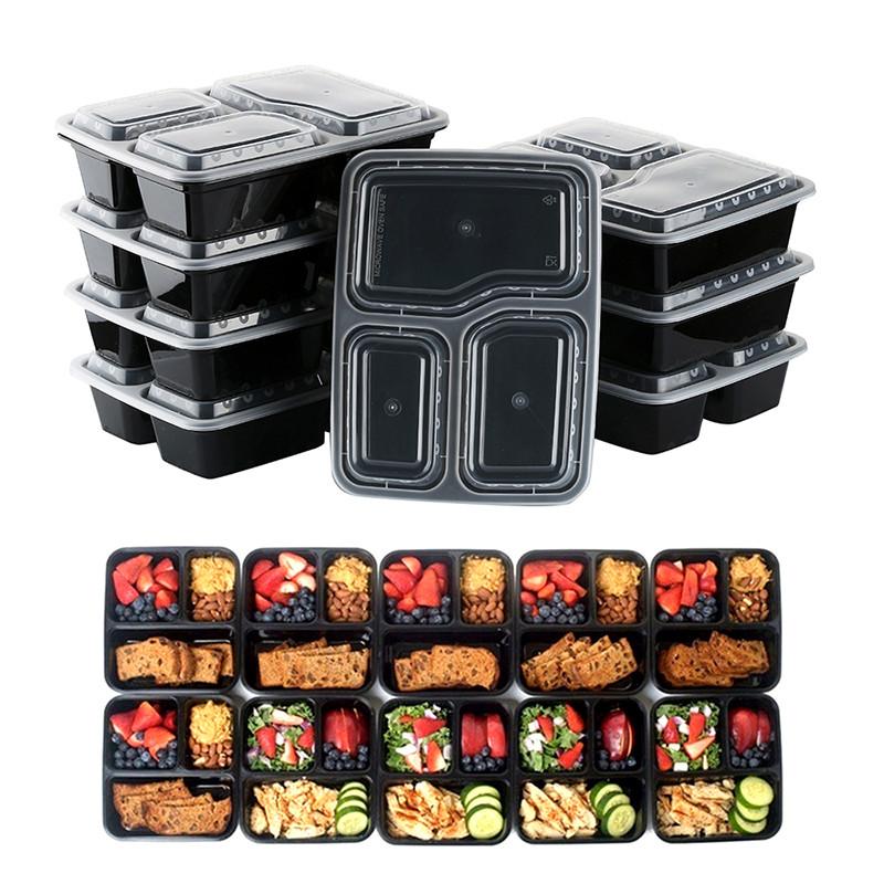 Удобные ланчбоксы с 3 отсеками для еды! Контейнеры для завтраков или обедов!