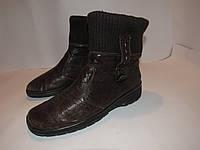 REIKER _Германия _Кожаные утепленные ботинки _39р_ст.25.5 см Н68