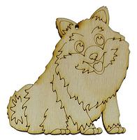 Собака № 2 пушистый толстяк ) 78*80мм В-0305 +МАГНИТ