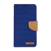 Чехол книжка Goospery Canvas Diary для Lenovo A6010 синий