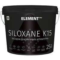 Декоративная штукатурка ELEMENT PRO SILOXANE K15 25кг - Зернистая структура