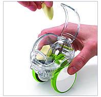 Чоппер для нарезки чеснока на колесиках! Прибор для измельчения чеснока!