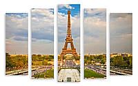 Модульная картина облака и Эйфелева Башня