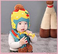 Шапочка и шарфик детские для девочки