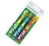 Nano Kids PRO Gold / Детские антибактериальные зубные щетки с ионами золота. 3-6 лет.