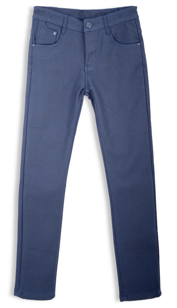 Детские теплые брюки для мальчика на флисе 134