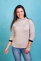 Вязанный зимний свитер