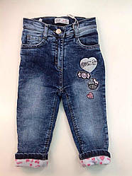 Тёплые джинсовые штаны для девочек