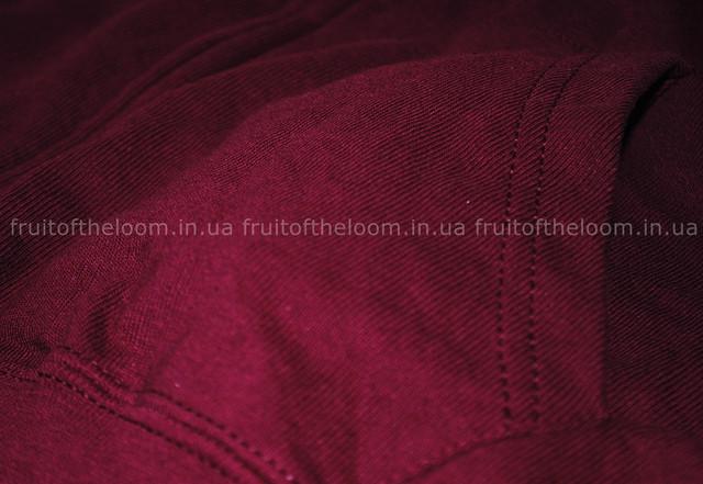 Бордовая мужская лёгкая толстовка с капюшоном на замке