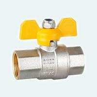 Кран шаровой HLV GAS вн-вн желтая бабочка