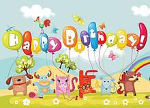 Вафельные картинки Детский День Рождения