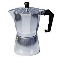 Гейзерная кофеварка 300мл 6 чашек Con Brio CB6106 Silver
