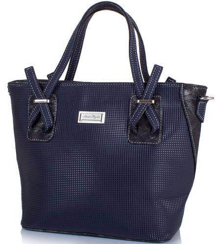 Элегантная женская сумка из кожзаменителя ETERNO ETZG24-17-6, цвет синий.