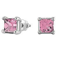 Серьги из серебра с куб. циркониями  177448 розовый