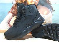 Кроссовки мужские зимние Nike Air Huarache Winter черные 43 р.