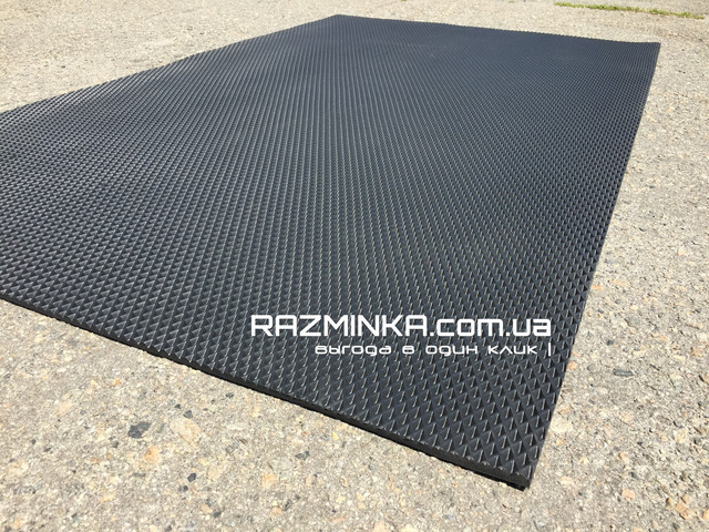 Материал для ковриков в машину EVA (ЭВА) 200х120см, черный