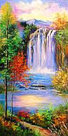 «Горный водопад» картина маслом