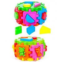Детская Игрушка Шестигранник Логический 50-105 Kinderway, Шестигранник 50-105 с геометрическими фигурами