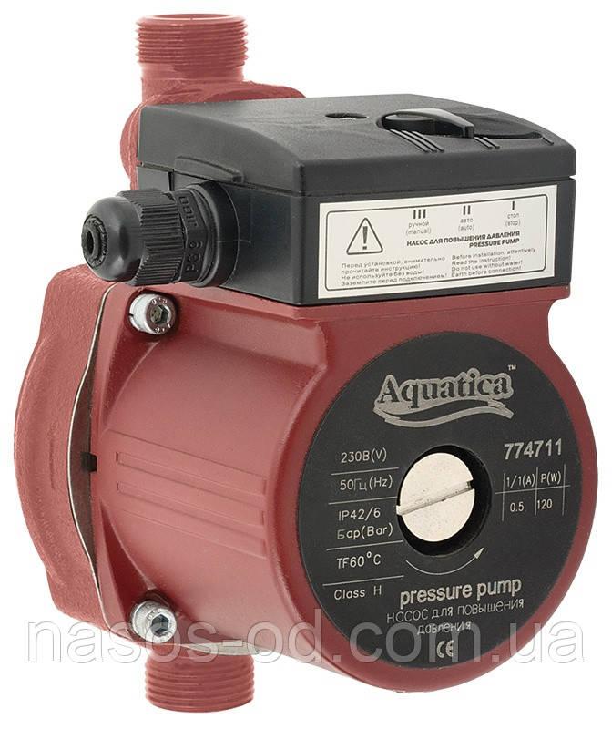 Насос повышения давления Aquatica для систем водоснабжения 120Вт Hmax 9м Qmax 30л/мин ؾ 160мм + гайки ؽ