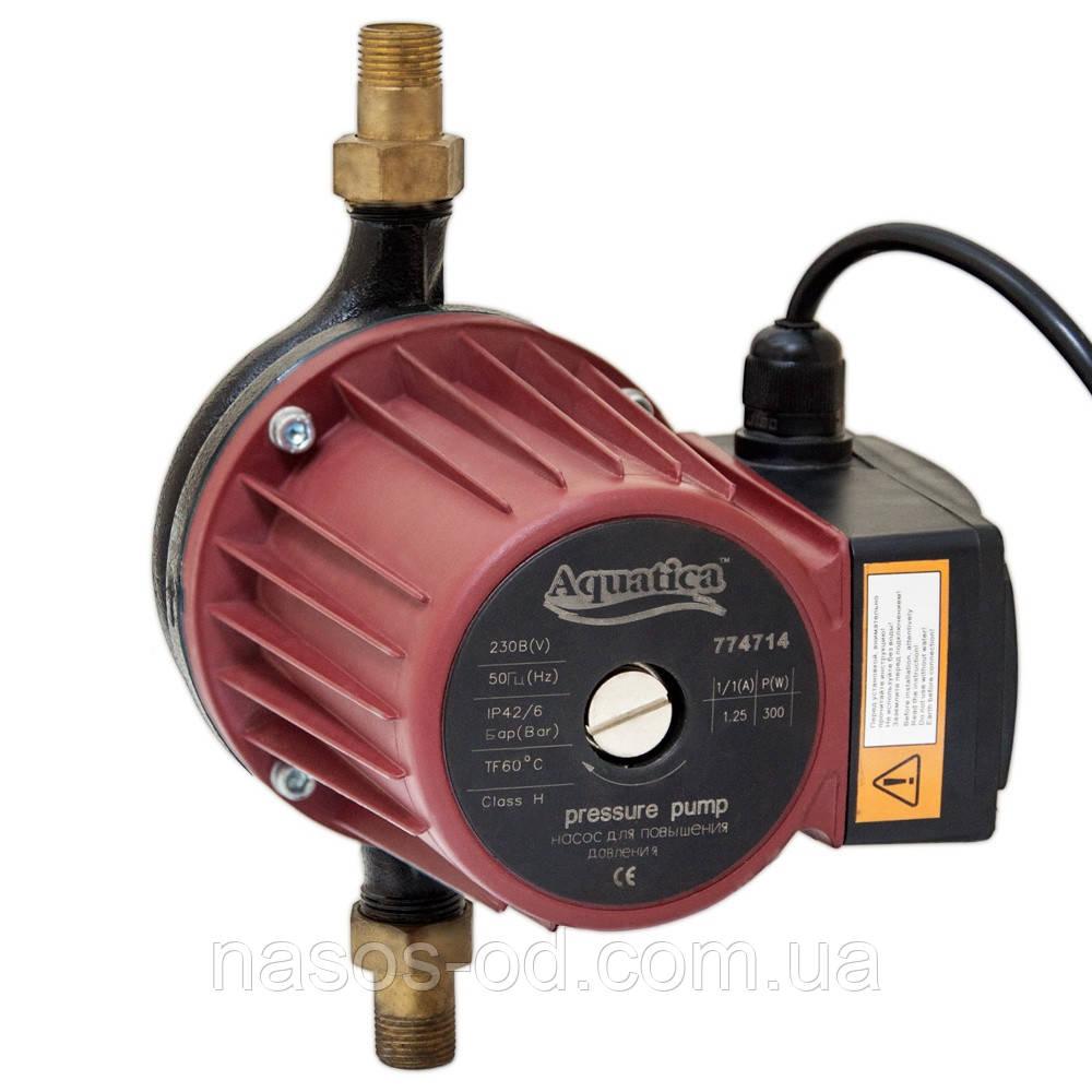 Насос повышения давления Aquatica для систем водоснабжения 270Вт Hmax12м Qmax 46л/мин ؾ 195мм + гайки ؽ