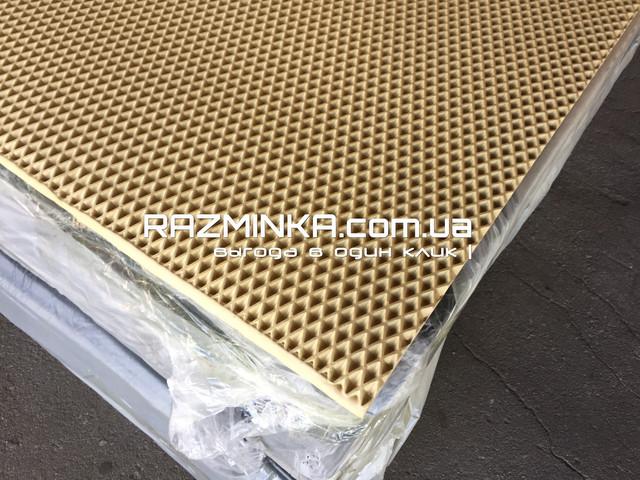 Материал для автомобильных ковриков EVA (ЭВА) 210х130см, бежевый, материал для автоковриков, эва листы, автоковрики EVA с ячейками