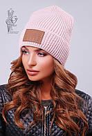 Вязаные женские шапки Стайл-2 нить шерсть-акрил